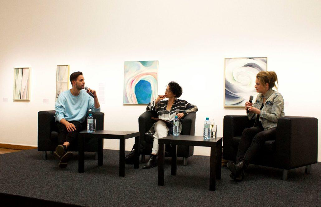 Frauen in der Kunst, Podiumsdiskussion, Kunstforum Wien, O'Keefe, Patrick Catuz, Isolde Charim, Teresa Präauer